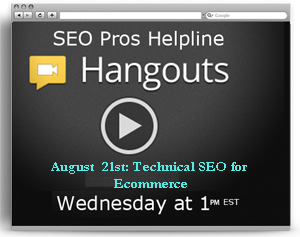 hangout on August 21st with Hamlet Batista and Scott Polk